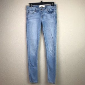 Hollister 5 Long 27 X 33 Skinny Light Wash Jeans